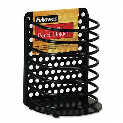 Fellowes Mfg. Co. Perf-Ect Pencil Cup, Metal
