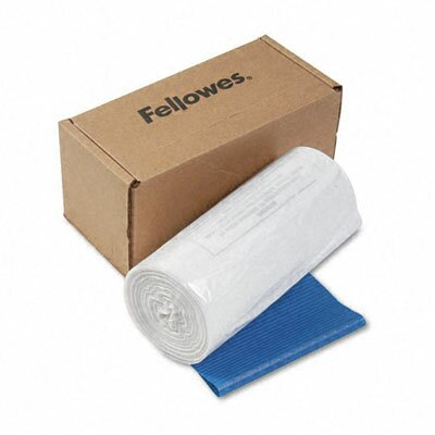 Fellowes Mfg. Co. Powershred Shredder Bags, 14-20 Gal, 50 Bags and Ties/Carton