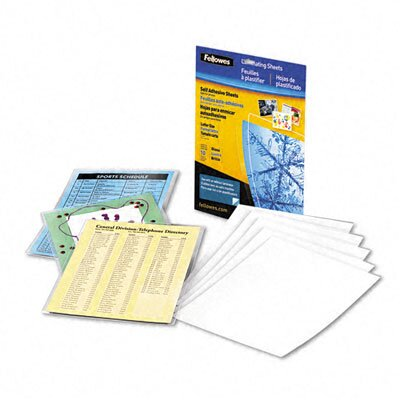 Fellowes Mfg. Co. Self-Laminating Sheets, 3 Mil, 50/Box