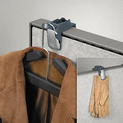 Fellowes Mfg. Co. Pro Series Partition Additions Coat Hook and Clip