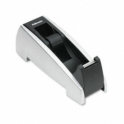 "Fellowes Mfg. Co. Office Suites Desktop Tape Dispenser, 1"" Core, Plastic, Heavy Base"