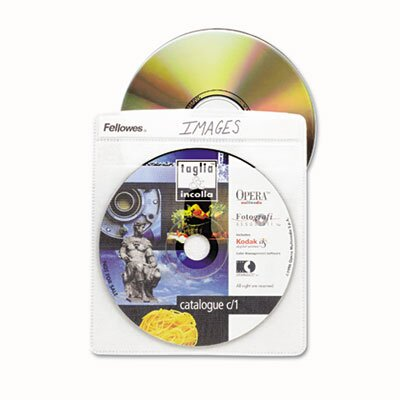 Fellowes Mfg. Co. Two-Sided Cd/Dvd Sleeve Refills for Softworks File, 25/Pack