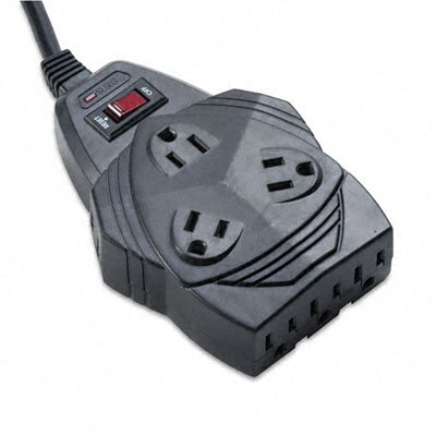 Fellowes Mfg. Co. Mighty 8 Surge Protector with Phone/Fax Protect, 8 Outlets, 6Ft Cord