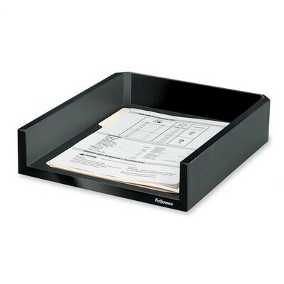 "Fellowes Mfg. Co. Letter Tray, Holds Letter/A4 Paper, 11-1/8""x13""x2-1/2"", Black"