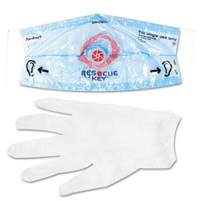 First Aid Only™ Rescue Breather Face Shield, 1/Box
