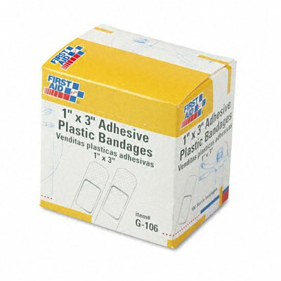 First Aid Only™ Plastic Adhesive Bandages, 100/Box