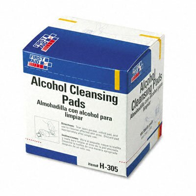First Aid Only™ Alcohol Cleansing Pads, Dispenser Box, 100/Box