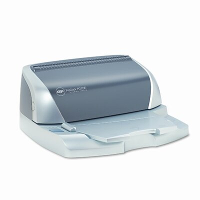 GBC® ProClick P210E Electric Comb Binding Machine, 110-Sheets, 16 x 14 x 9, Silver/GY