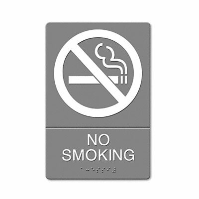 GBC® Headline Sign Ada Sign, No Smoking Symbol with Tactile Graphic, Molded Plastic