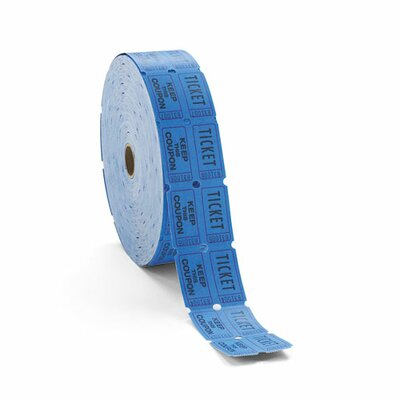 Generations® Consecutively Numbered Double Ticket Roll, Blue, 2000 Tickets/Roll