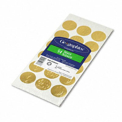 GEOGRAPHICS                                        Self-Adhesive Embossed Seals, 54/Pack