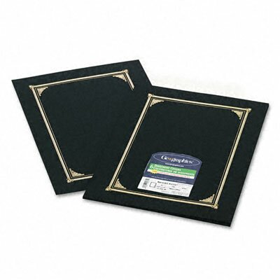 GEOGRAPHICS                                        Certificate/Document Cover, Linen Stock, Black, Six per Pack