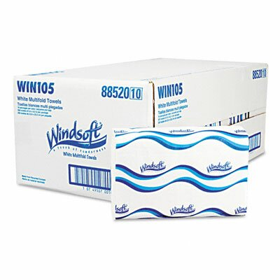 Georgia Pacific Windsoft Embossed Multifold Paper Towel, 250/Pack, 16/Carton.