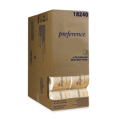 Georgia Pacific Bathroom Tissue, 2-Ply, Pref, 550 Sheets/Rl, 40 Rolls per Carton, White
