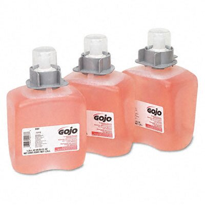 GOJO Industries Fmx-12 Foam Hand Wash, Cranberry, Fmx-12 Dispenser, 1250Ml Pump, 3/Carton