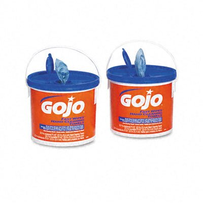 GOJO Industries Fast Wipes Hand Cleaning Towels, Cloth, 225/Bucket, 2/Carton