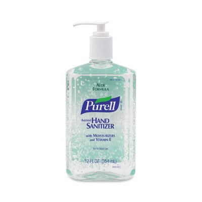 GOJO Industries Ounce Pump Bottle PURELL® Instant Hand Sanitizer With Aloe (12 Per Case)