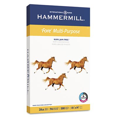 Hammermill Fore Mp Multipurpose Paper, 96 Brightness, 20 Lb, 500/Ream