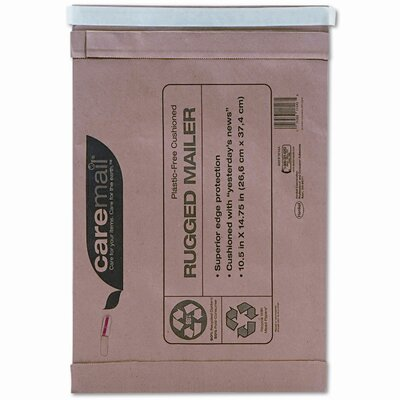 HENKEL CORPORATION Caremail Rugged Padded Mailer, Side Seam, 10 1/2 x 14 3/4, Light Brown, 25/pack