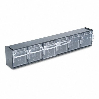 Deflect-O Corporation Tilt Bin Plastic Storage System with 6 Bins