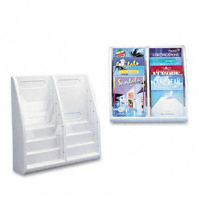 "Deflect-O Corporation Multi-Tiered Desktop/Wall-Mount Literature Holders, 20.25"" Wide"