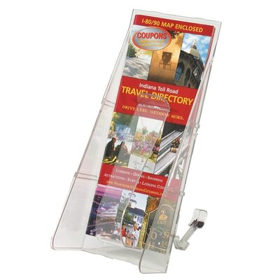 "Deflect-O Corporation Lit. Rack, 1 Leaflet Size Pocket, 4-9/16""x11-3/4""x5-1/4"", Clear"