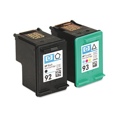 HP C9513FN (HP92, HP93) Inkjet Cartridge, Black, Tri-Color