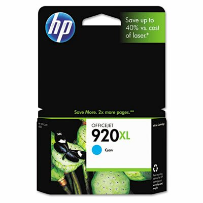 HP CD972AN (HP 920XL) High-Yield Ink, 700 Page-Yield, Cyan