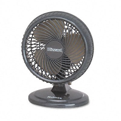 "Holmes® Lil' Blizzard 7"" Two-Speed Oscillating Personal Table Fan, Plastic"