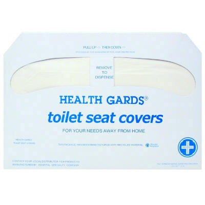 Hospital Specialty Health Gards Toilet Seat Cover in White (Case of 1000)