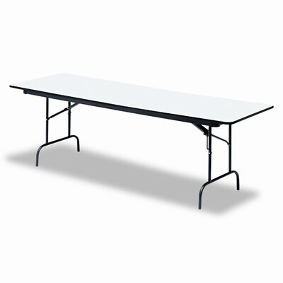 "Iceberg Enterprises Premium Wood Laminate 30"" x 60"" Folding Table"