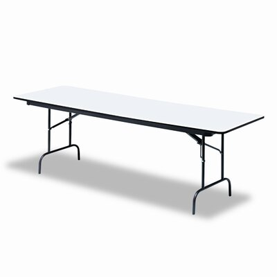 "Iceberg Enterprises Premium Wood Laminate 30"" x 72"" Folding Table"