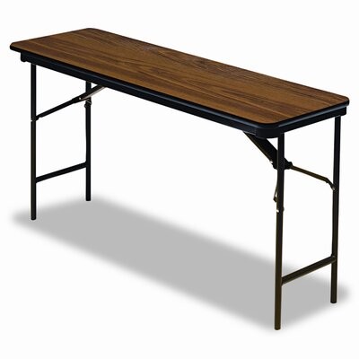 "Iceberg Enterprises Premium Wood Laminate 18"" x 72"" Folding Table"