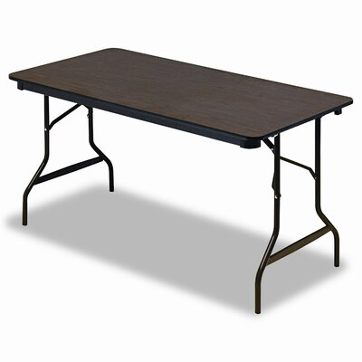 Iceberg Enterprises Economy Wood Laminate Folding Table in Walnut