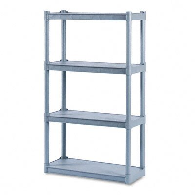 Iceberg Enterprises Rough N Ready 4 Shelf Open Storage System, Resin, 32W X 13D X 54H