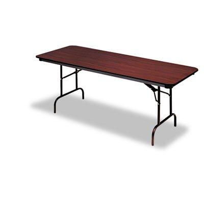 Iceberg Enterprises Premium Wood Laminate Folding Table, Rectangular
