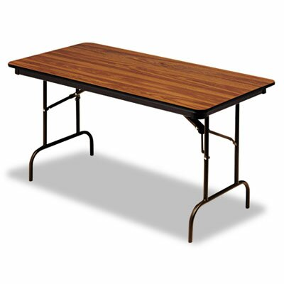 "Iceberg Enterprises Iceberg Premium Wood Laminate 60"" Rectangular Folding Table"