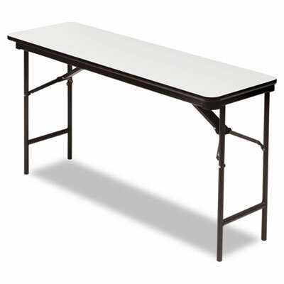 Iceberg Enterprises Premium Wood Laminate Folding Table, Rectangular, 60W X 18D X 29H