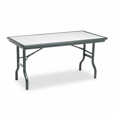 Iceberg Enterprises Indestruc-Tables Too Folding Table, Rectangular, 60d x 30d x 29h, Granite