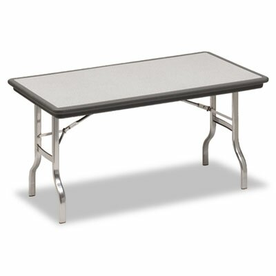 Iceberg Enterprises Indestruc-Tables Too Folding Table, Rectangular, 72d x 30d x 29h, Charcoal