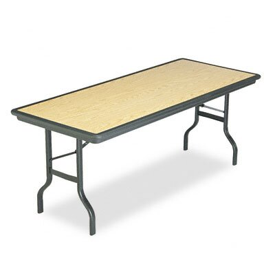 Iceberg Enterprises Indestructable Resin Rectangular Folding Table, 72W X 30D X 29H