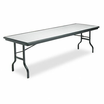 Iceberg Enterprises Indestructable Resin Rectangular Folding Table, 96W X 30D X 29H
