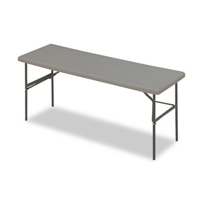 Iceberg Enterprises Indestructable Too 1200 Series Resin Folding Table, 72W X 24D X 29H
