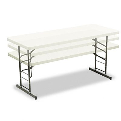 Iceberg Enterprises Indestructable Too Adjustable Height Resin Folding Table, 72W X 30D X 25-35H