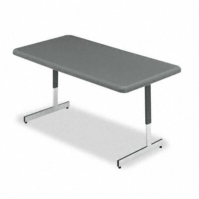 Iceberg Enterprises Indestructable Too Resin Adjustable Height Utility Table, 60W X 30D X 21-31H
