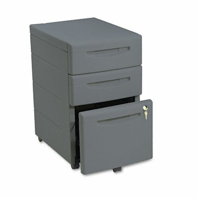 Iceberg Enterprises Aspira Mobile Underdesk Pedestal File, Resin, 2 Box/1 File Drawers