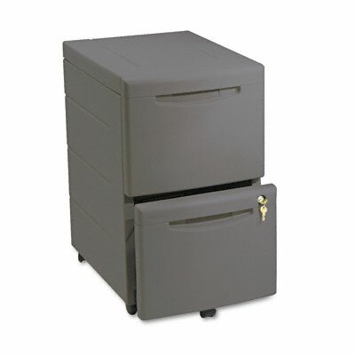 Iceberg Enterprises Aspira Mobile Underdesk Pedestal File, Resin, 2 File Drawers