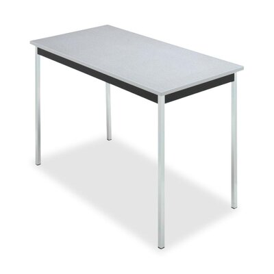 "Iceberg Enterprises Utility Table, 72""x20""x29"", Chrome Legs, Granite/Black"