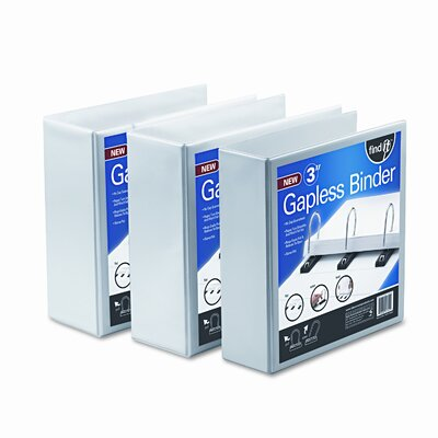 Ideastream Products Gapless Loop Ring View Binder, 5in Capacity, White