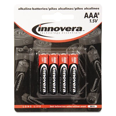 Innovera® Alkaline Battery, 8/Pack